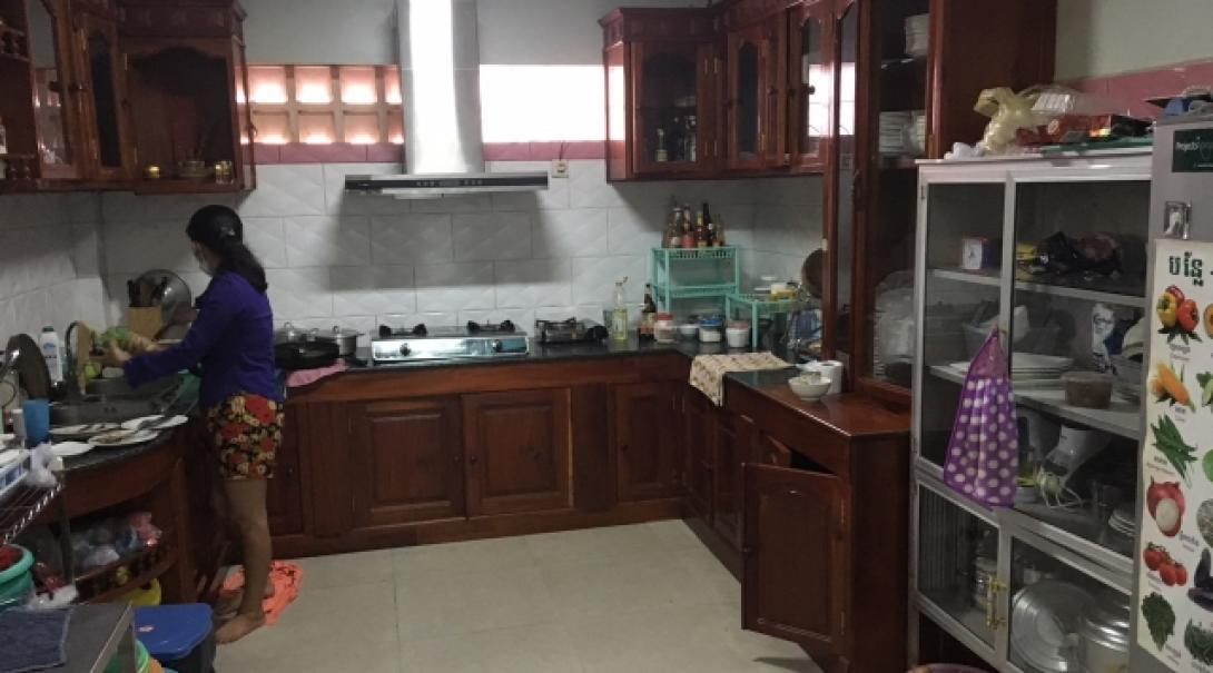 Cook preparing meals